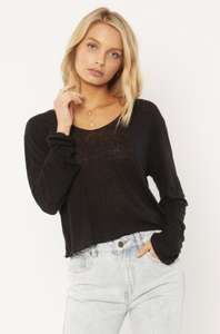 Pierce Knit Top-Black