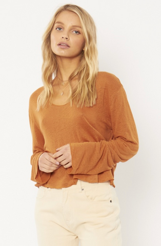 Pierce Knit Top-Rum