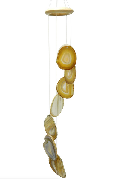 Natural Agate Slice Wind Chime Large