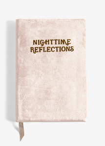 Nighttime Reflections Blush - Velvet Mindfulness Journal