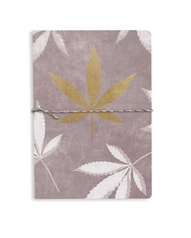Just a Weed Medium Cotton Notebook