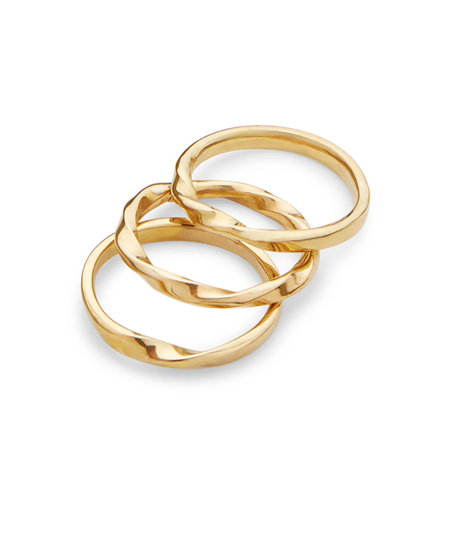 Twist stacked Ring
