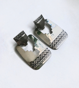 Southwestern etched hinge earrings