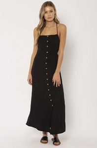Sahara Woven Maxi Dress Black