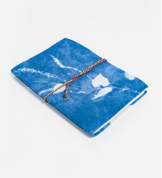 Cyan Morning Glory Small Cotton Journal