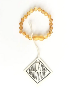 Raw Honey Amber anklet/bracelet