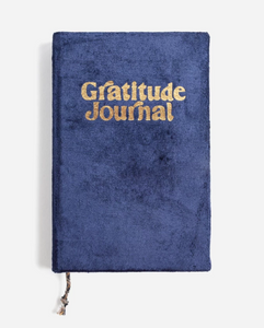 Navy Mini Velvet Gratitude Journal
