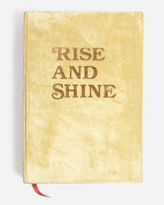Rise and Shine Velvet Journal-Gold