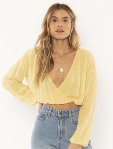Bellisima Woven Top Golden Hour