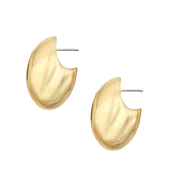 Ripple Disc Hoop Earrings