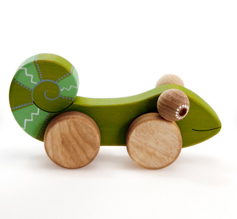 Wooden Chameleon Toy