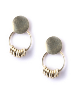 Ring Fringe Stud Earrings
