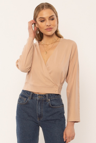 Shandie Knit Top Taupe