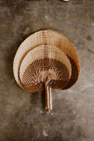 Woven Paradisio Fan in Amber Ombre Small