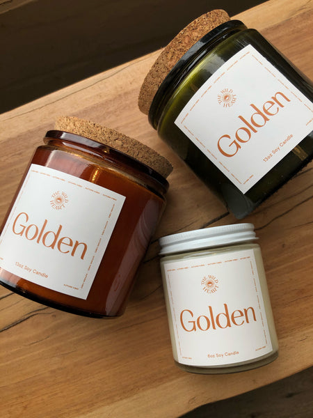 Golden 13 oz Candle