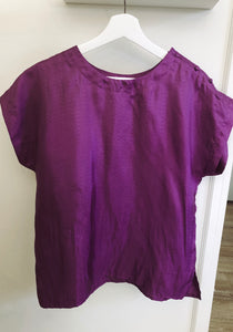 Silky Purple Blouse