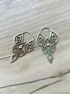 Eva Earrings - Brass