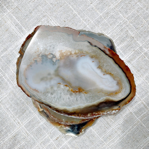 Natural Agate coasters set of 4