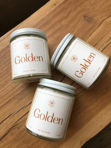 Golden 6oz Candle