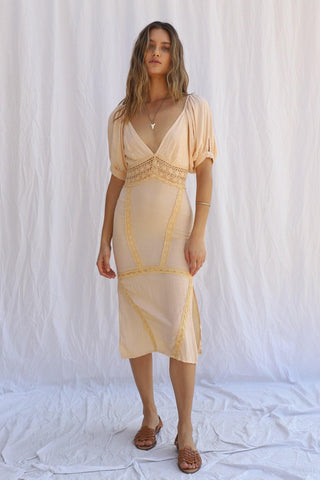 Rio Panorama Midi Dress - Golden Hour
