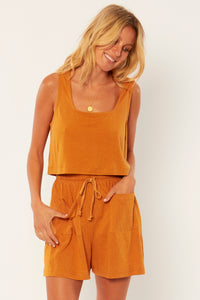 Salma Knit Tank - Amber Light