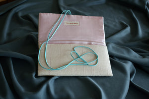 Wool and silk clutch