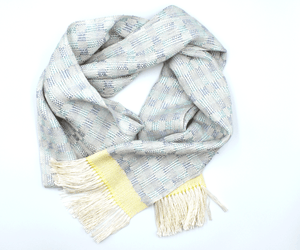 Pale sunrise scarf