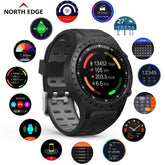 North Edge Montre GPS Multi Sports et OCG Bluetooth ; Compass, Altitude, fréquence cardiaque