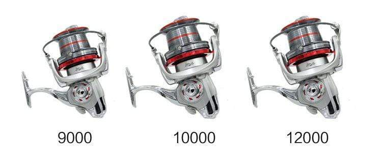 Moulinet Surfcasting 9000 bobine long cast 14+1 roulements frein 15 kg