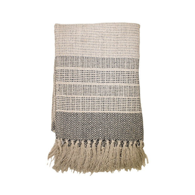 Boho Throw with Fringes
