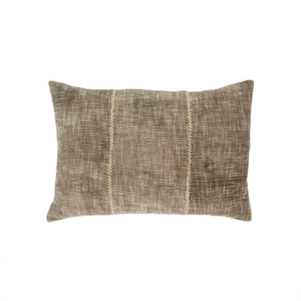 Olive Stonewash Stitch Pillow