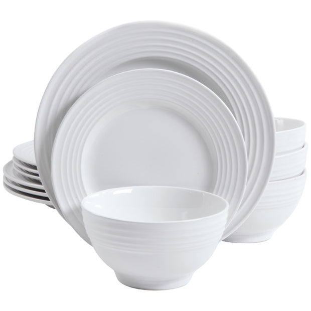 12-Piece Plaza Café Dinnerware Set