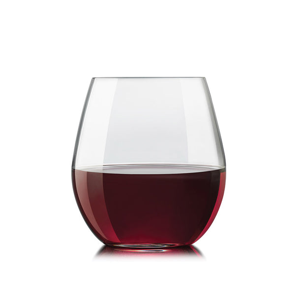 Exquisite Stemless Red Wine Glasses - Set of 4