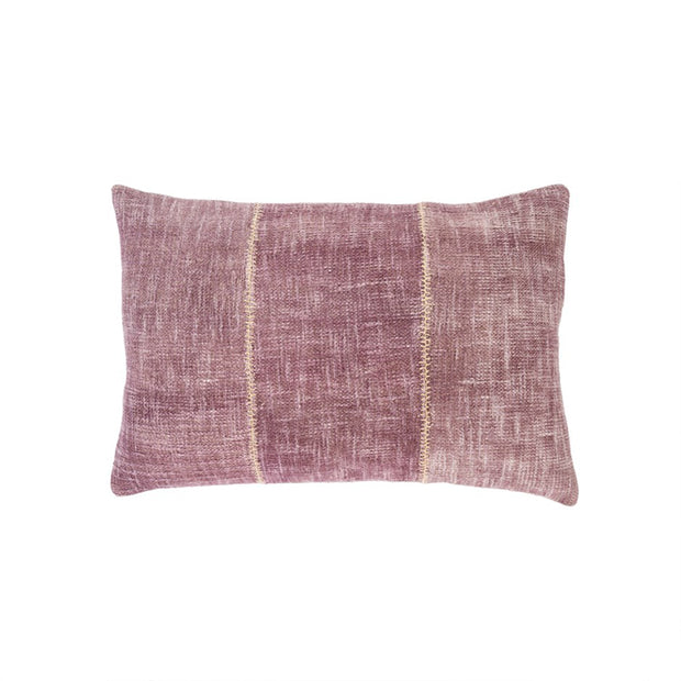 Plum Stonewash Stitch Pillow