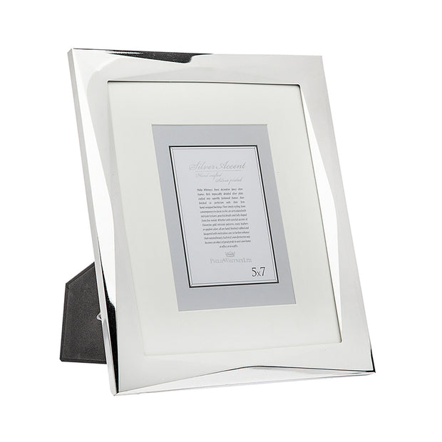 8x10 Geometric Silver 2-in-1 Picture Frame