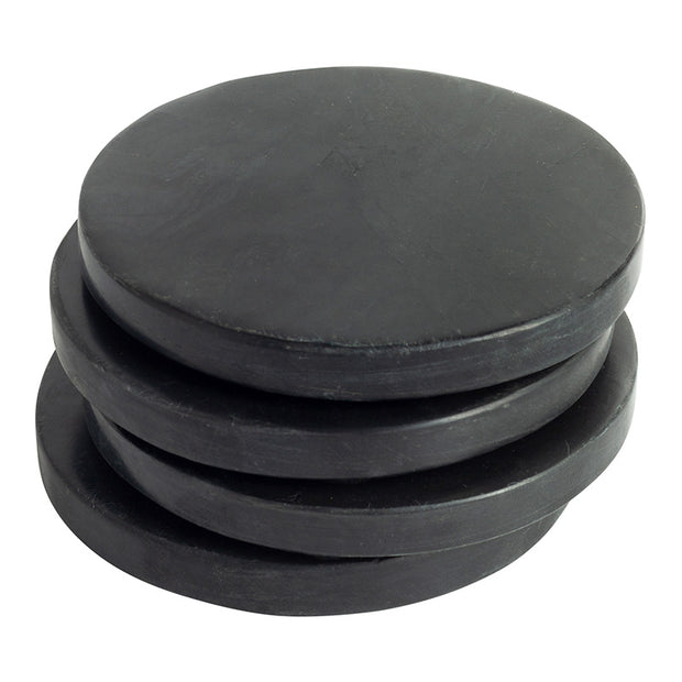Black Round Marble Coasters - Set of 4
