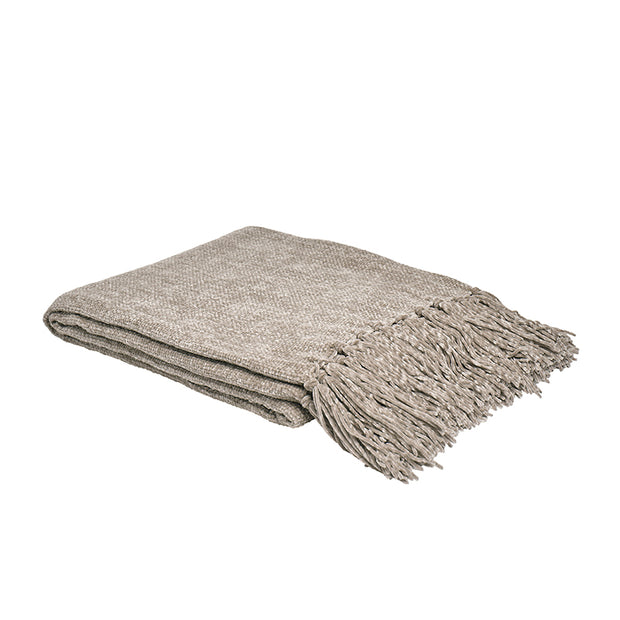 Chenille Tassel Throw
