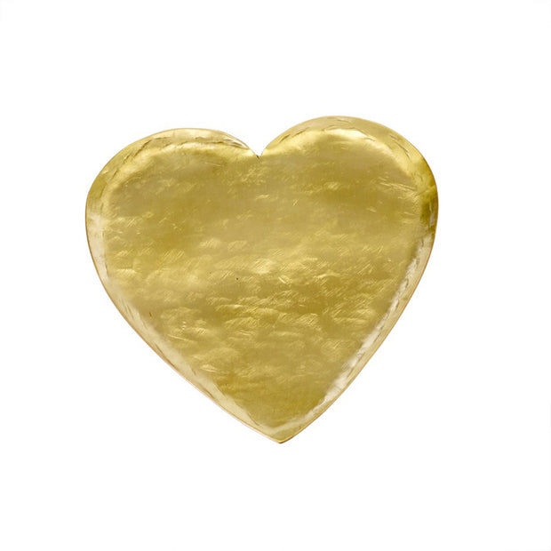 Hammered Heart Brass Tray