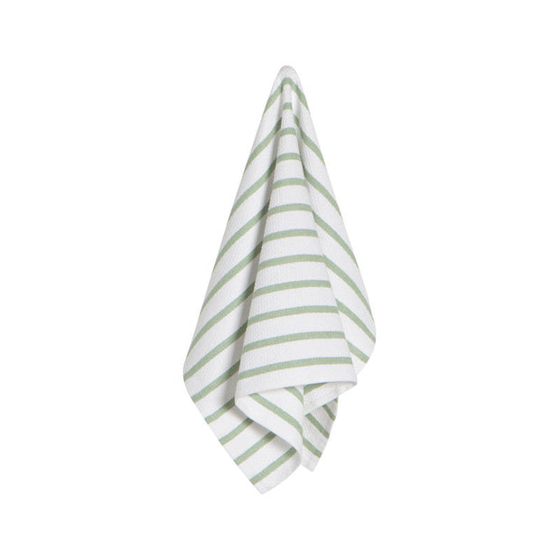 Basketweave Sage Kitchen Towel
