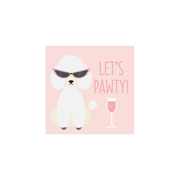 Let's Pawty Cocktail Napkins - Set of 20