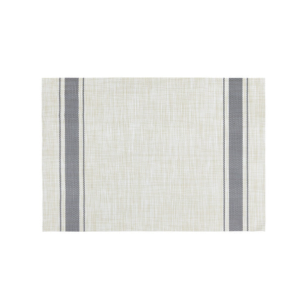 Grey Bistro Stripe Placemat