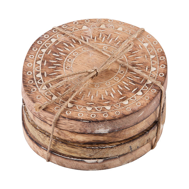 Artisan Market Round Coasters - Set of 4