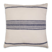 Navy Linen Stripe Pillow