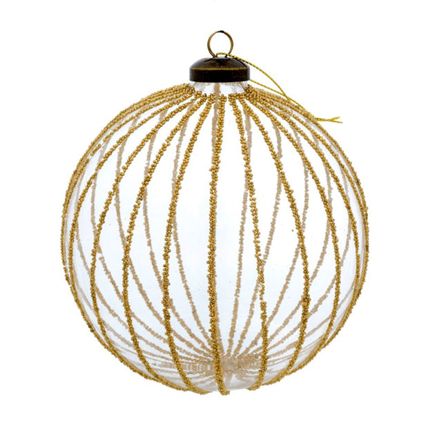 Gilded Stripe Ornament