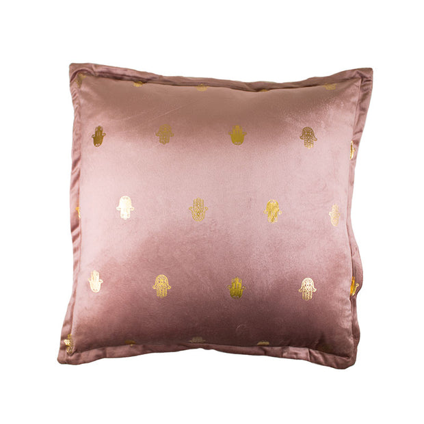 Hamsa Gold Foil Pillow