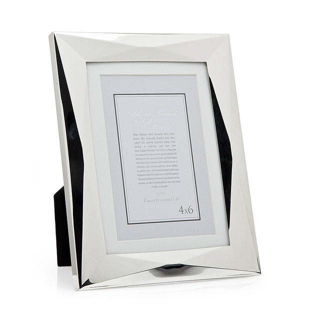 5x7 Geometric Silver 2-in-1 Picture Frame