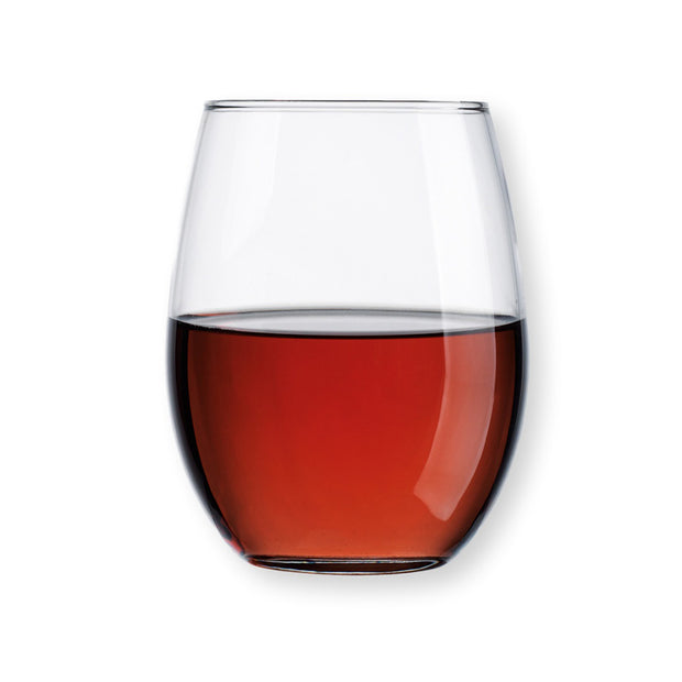 Basic Stemless Red Wine Glasses - Set of 4