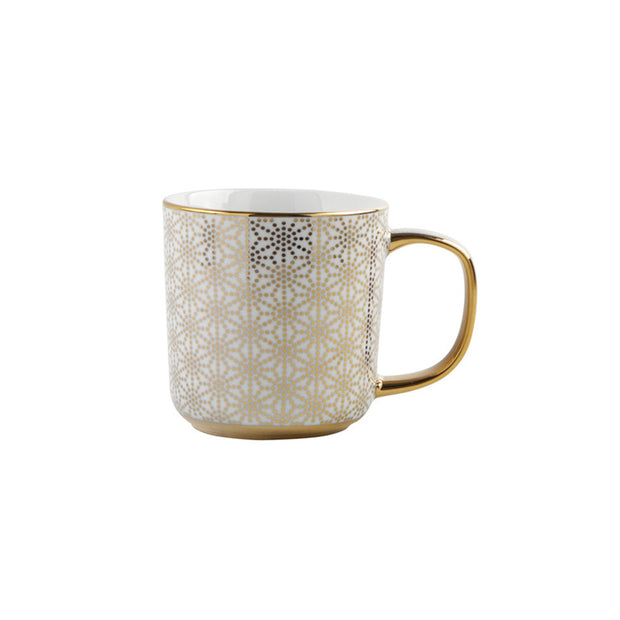 Gold Geo Coffee Mug