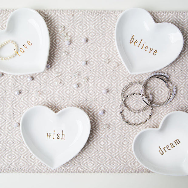 White Heart Trinket Tray