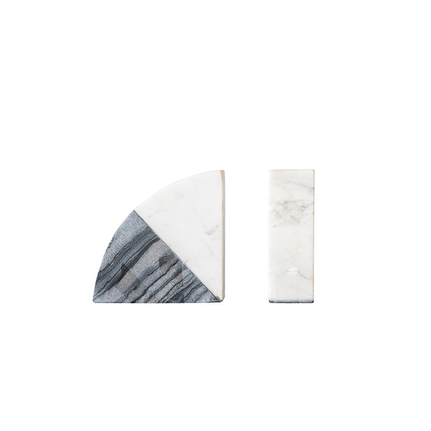 Two Tone Marble Bookends